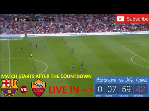 BARCELONA vs AS ROMA Live Stream  Champions League 04 04 2018 Live Stats HD