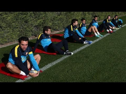 FC Barcelona- Training session 10/12/12