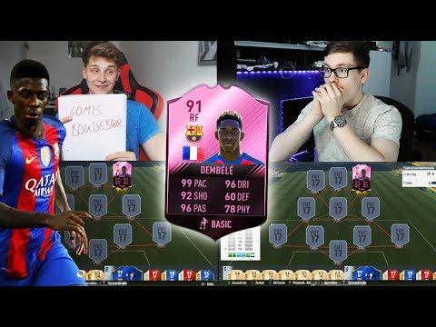 FIFA 17: FC BARCELONA DEMBÉLÉ TRANSFER PREDICTION SQUAD BUILDER SHOWDOWN vs FIFAGAMING 😱🔥😈