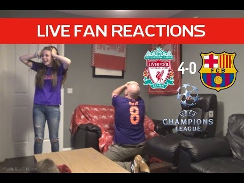 Liverpool 4-0 Barcelona , Champions League Semi Final 2nd Leg, LIVE Fan Reactions!