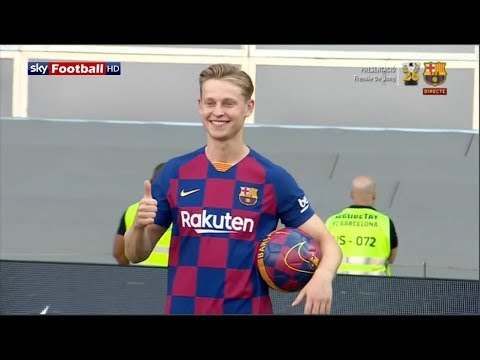 🔴 LIVE: Frenkie De Jong's FC Barcelona presentation! New Barcelona Player at Camp Nou HD