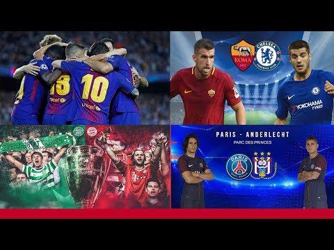 Olympiacos vs Barcelona – Roma vs Chelsea – Celtic vs Bayern Munich – PSG vs Anderlecht