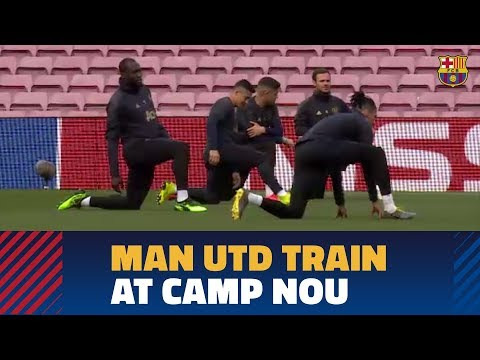 BARÇA 3-0 MANCHESTER UNITED | United's training session at Camp Nou