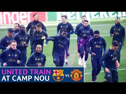 Manchester United train at Camp Nou | FC Barcelona v Manchester United | UEFA Champions League