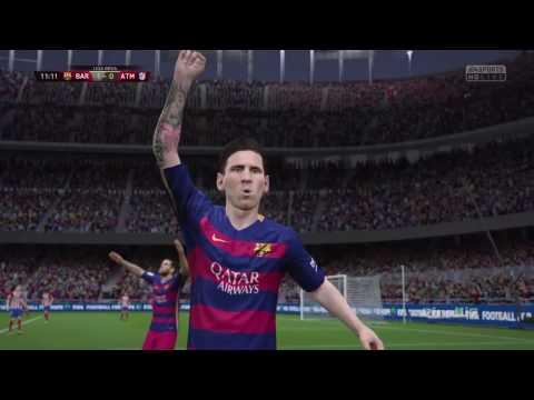 FIFA 16 Predicts: FC Barcelona vs Atletico Madrid || Legendary Difficulty by Pirelli7