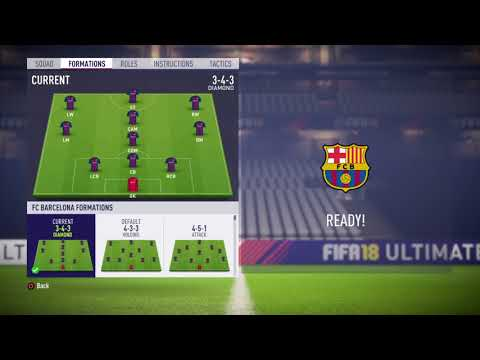 FIFA 18 FC Barcelona review – Best (Risky) formation, Best tactics and instructions