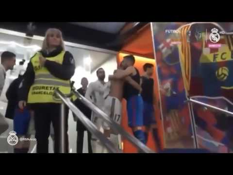 Sergio Ramos Motivate FC Barcelona Players after El Classico ~ FC Barcelona vs Real Madrid 1:1