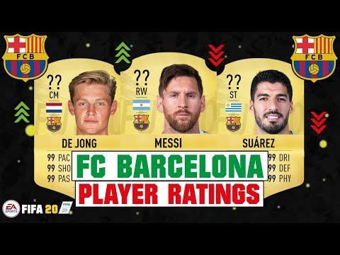 FIFA 20 | FC BARCELONA PLAYER RATINGS 😳🔥| FT. MESSI, DE JONG, SUAREZ… etc