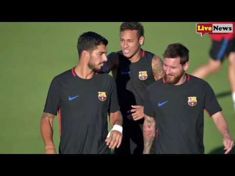 Neymar fights with Barcelona team-mate Nelson Semedo in shocking training-ground spat Star storms