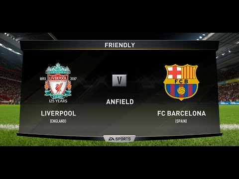 Fifa 18 | Liverpool vs FC Barcelona Xbox One PS4 Full Match Gameplay in HD