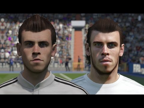 FIFA 16 vs FIFA 15 Faces Real Madrid (Ronaldo, Bale, James)