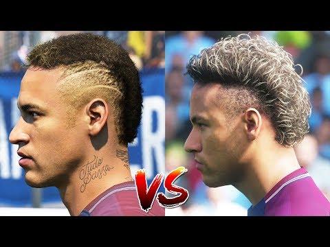FIFA 18 New Face Updates vs PES 18