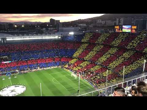 Barcelona Anthem & Allez, Allez, Allez from Liverpool Fans Before Champions League Semi at Camp Nou