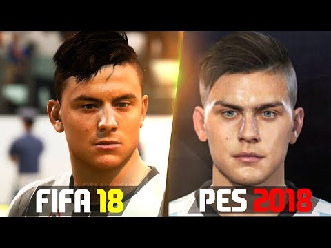 FIFA 18 vs PES 2018 Players Faces Comparison