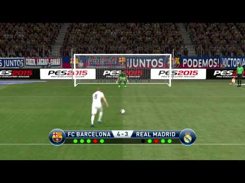 PES 2015 – Penalty Shootout [Barcelona vs Real Madrid]