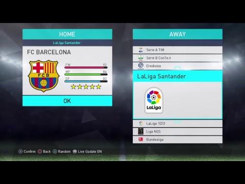 PES 2018 – Barcelona – Best Formation & Tactics
