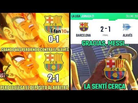 MEMES BARCELONA VS ALAVES 2-1 | ROBO DEL BARCELONA | GOLAZO MESSI | MEMES REAL MADRID