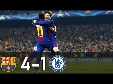 Barcelona Vs Chelsea 4-1 All Goals & Highlight HD | 2018