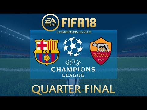 FIFA 18 Barcelona vs AS Roma | Champions League 2017/18 | PS4 Full Match