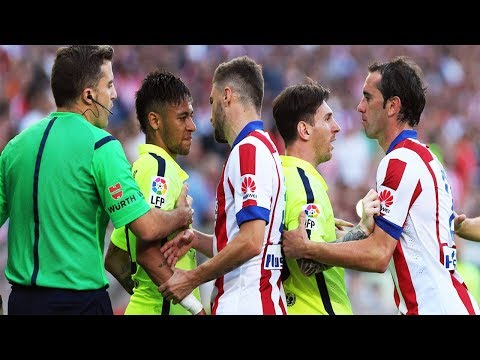 Barcelona Vs Atletico Madrid●Best Fights & Brawls●Red Cards