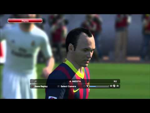 Pro Evolution Soccer 2014 (PES 2014) – Barcelona and Real Madrid starting 11 player faces