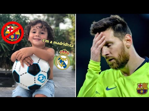 OMG! LIONEL MESSI'S SON TURNED OUT TO BE A FAN OF REAL MADRID! ft.Thiago