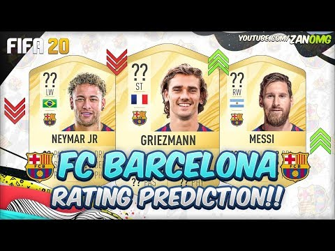 FIFA 20 | FC BARCELONA PLAYERS RATING PREDICTION!! | FT. MESSI, NEYMAR, GRIEZMANN…