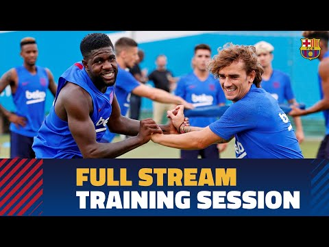 Barça's preseason training session for 2019/20