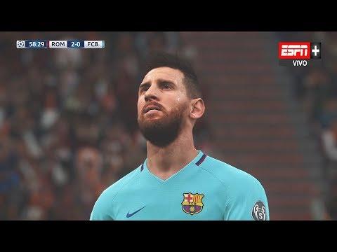 Recreación Roma 3-0 Barcelona – Uefa Champions League 2018