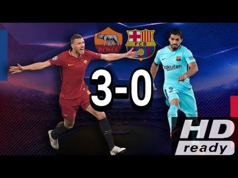 AS Roma vs Barcelona (3-0) full higlight 10/04/2018 all goall!!!