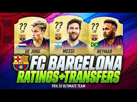 FIFA 20 | FC BARCELONA PLAYERS RATINGS PREDICTION | w/ SUAREZ DE JONG COUTINHO NEYMAR & MESSI