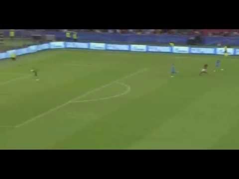 Alessandro Florenzi goal vs Marc-André ter Stegen Roma vs Barcelona 16 September 2015