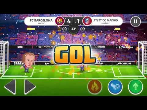 Head Soccer La Liga | FC Barcelona(Rakitic) vs Atletico Madrid(Giménez) | Play Zone