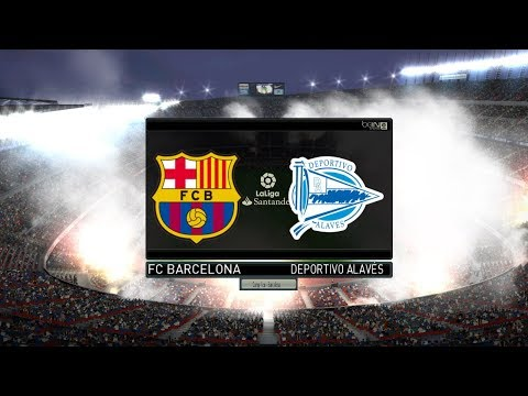 FC Barcelona vs Alaves fc Full Match | L. Messi Best Goal | La Liga 2018 | PES Gameplay