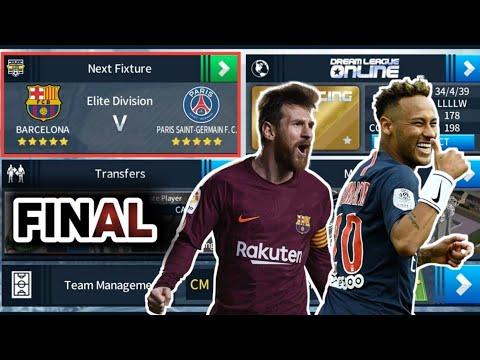 Barcelona 🆚 Paris Saint-Germain⚫Final Match 🏆 Dream League Soccer 2018 Gameplay