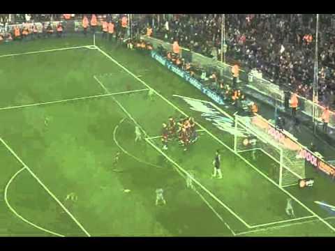 FC Barcelona Vs Malaga (4-1) at Camp Nou 16-01-2011  . . HD QUALITY . . with barca song!!! =D
