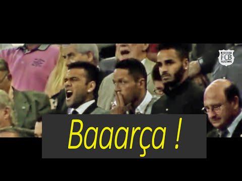 Dani Alves Funny moment singing the Barca anthem in Camp Nou