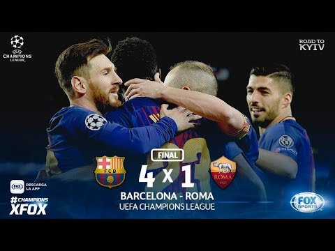 FC Barcelona vs. AS Roma 04/04/2018 | Goals & Highlights | Champions League 2018 | GAMEPLAY PES2018