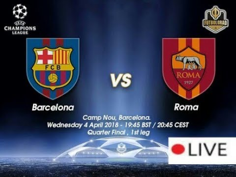 Barcelona VS Roma Live streaming in online. #barca #roma