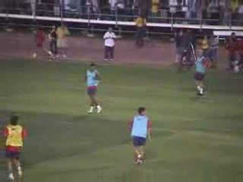 Barcelona football club training in Los Angeles August 2006