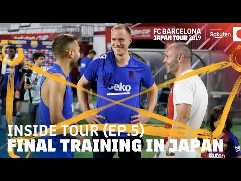 VILLA AND INIESTA VISIT OUR TRAINING SESSION | Inside Tour Japan 2019 #4