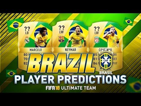 FIFA 18 | TOP 10 BEST BRAZILIAN PLAYERS RATINGS PREDICTION | w/ MARCELO, COUTINHO & NEYMAR | FUT 18
