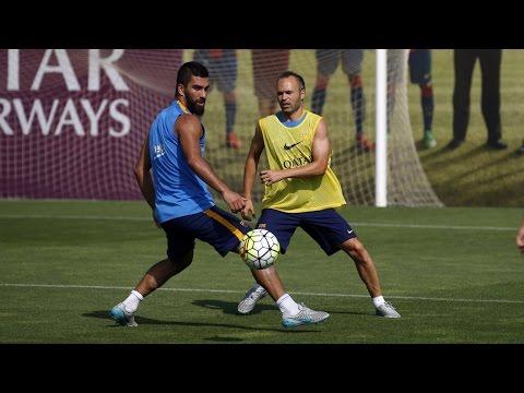 Preseason FC Barcelona training session (15/07/2015)