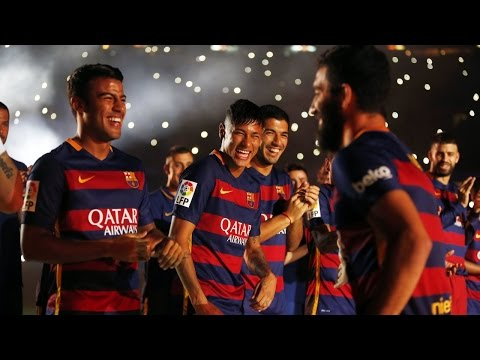 La presentació del FC Barcelona 2015/16