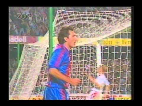 1991 October 23 Barcelona Spain 2 Kaiserslautern Germany 0 Champions League