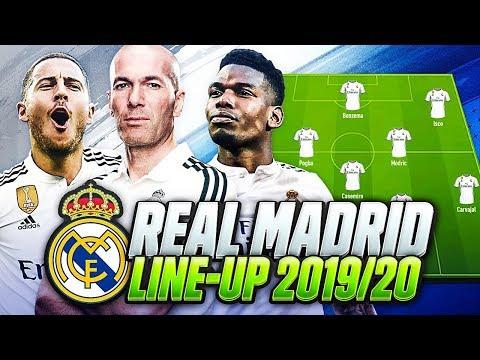 OMG! REAL MADRID LINEUP 2019-2020 with ZIDANE | w/ TRANSFERS POGBA NEYMAR JOVIC & HAZARD💰| FIFA 20