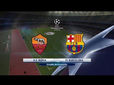 PES 2016 – UEFA Champions League – Roma vs FC Barcelona – Playstation 4  (Dificuldade Estrela)
