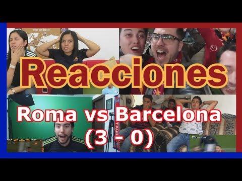 Reacciones: Barcelona eliminado de la UEFA | Roma vs Barcelona (3 – 0) | Recopilación