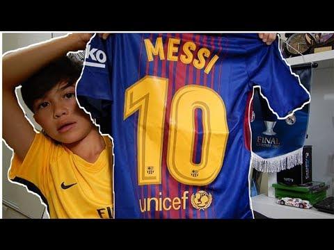 Unboxing Lionel Messi FC Barcelona Kit 2017!!!