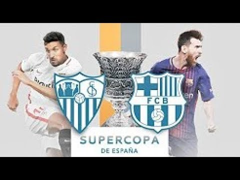 Sevilla vs Barcelona ● FULL MATCH ● Spanish Super Cup 2018 ● 1st Half ● English Commentary